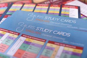 Yuris english study cards