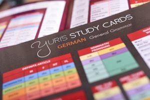 Yuris german study cards