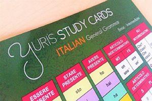 Yuris italian study card